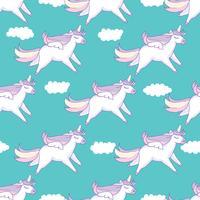 Naadloze patroonachtergrond. Leuk varken als pegasus en eenhoorn.