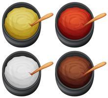 Een set van verschillende saus vector