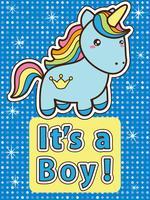baby shower uitnodigingskaart vector
