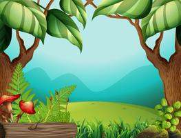 Een groene jungle sjabloon