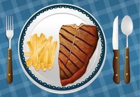 Biefstuk en friet