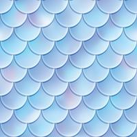 Vis schalen naadloze patroon. Zeemeermin staart textuur. Vector illustratie