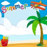 Grensontwerp met de zomer op het strand
