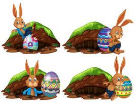 Een set van Pasen-konijn