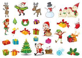 Kerstset vector