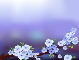 Een kantoorbehoeftenontwerp met bloeiende bloemen