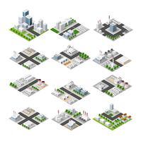 Isometrische concept van de stad