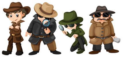 detectives vector