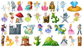 Set van sprookje karakter
