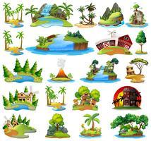 Set van de natuur lanscape