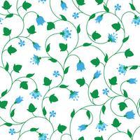 Naadloos bloemenpatroon met uiterst kleine blauwe bloemen vector