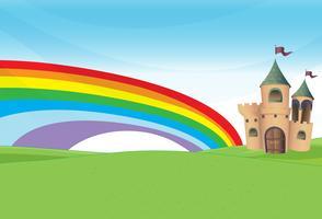 Een kasteel en de regenboog