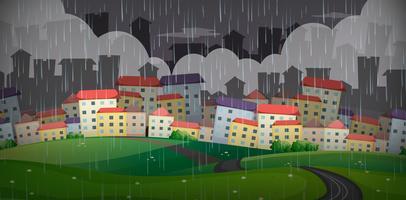 Regent over de grote stad vector