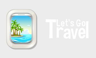 Vakantie uit vliegtuigraam