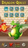 Dragon op game sjabloon