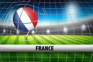 Frankrijk voetbal bal vlag