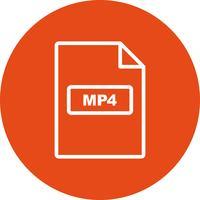 MP4 Vector pictogram