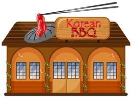 Een Koreaans BBQ-restaurant vector