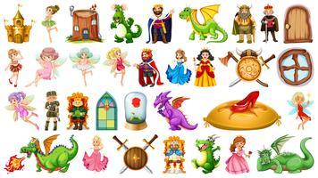 Set van middeleeuwse karakter