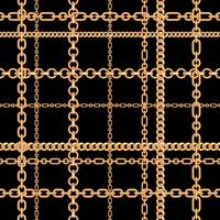 Gouden kettingen naadloze patroon. Vector illustratie