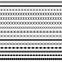 mod zwarte kettingrandpatronen vector