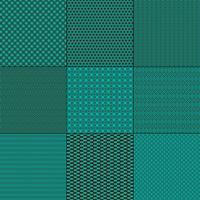 turkooise blauwe en bruine mod geometrische patronen vector