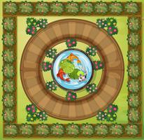 Luchtfoto van de tuin vector