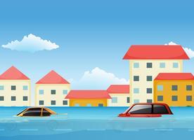 Een zondvloed in de stad vector