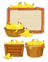 Set van bananen sjabloon