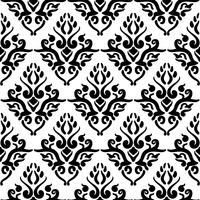 Victoriaans kunst bloemen naadloos patroon. Uitstekende achtergrond, vectorillustratie, Victoriaans ornament. vector