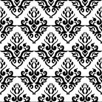 Victoriaans kunst bloemen naadloos patroon. Uitstekende achtergrond, vectorillustratie, Victoriaans ornament.