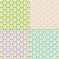 narcissen patronen op pastel achtergronden