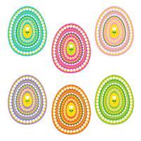 paaseieren met tulpen en kuikens patroon