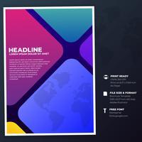 Bussiness Cover sjabloon voor jaarverslag Flat ontwerpsjabloon vector