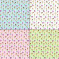 lente Paasboeketten op pastel achtergronden vector