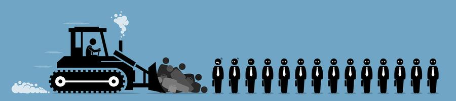 Bezuinigingen, ontslagen werknemers en banenverlies.
