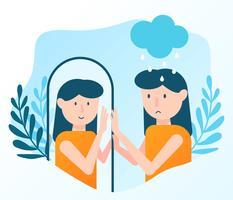 Geestelijke gezondheid Concept Vector
