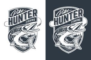 Pike Hunter Vector embleemontwerp