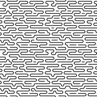 Monochrome doodle abstracte naadloze achtergrond met lijn van de lijn. vector