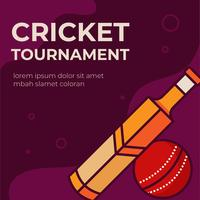 Cricket toernooiposter