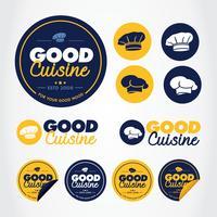 Chef-label Vector-pakket vector