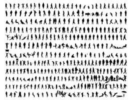 Silhouet mensen vector ontwerp illustratie sjabloon