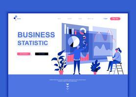 Moderne platte webpagina ontwerpsjabloon concept van bedrijfsstatistiek vector