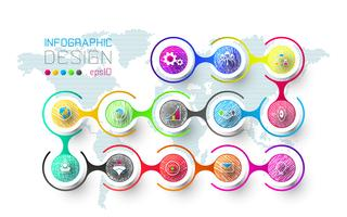Zakelijke infographic met 13 stappen.