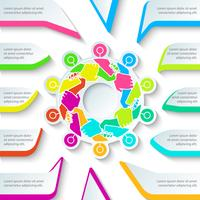 Hand harmonie bedrijf in cirkel vorm, zakelijke infographic.