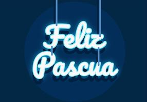 Feliz Pascua Typografie