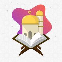 Vlakke Moderne Heilige Al Quran Vector Illustration