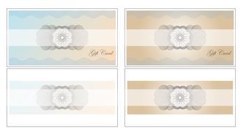 De illustratiemalplaatje van het Giftcard vastgestelde vectorontwerp