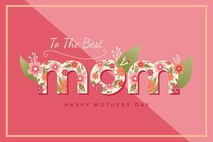 gelukkige moederdag vector