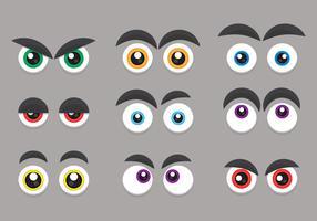 Cartoon ogen en expressie Set vector